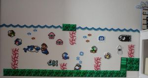 Beads - Mario underwater 2 by acidezabs