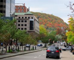 Mount Royal Seen From McGill College Avenue by Kitteh-Pawz