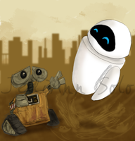 WALL-E and EVE by JediAnnSolo