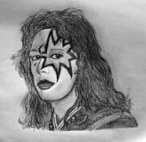 Ace Frehley (Half Make-up) by tomchristie22