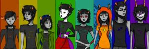 Homestuck Trolls by shadowdancer727