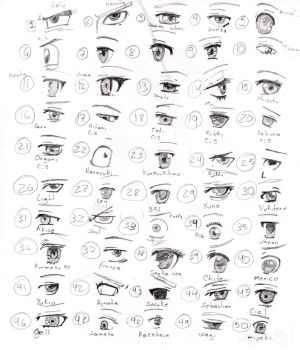 50 eyes of anime by lulitaowo
