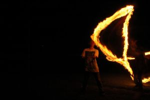 fire lightpaint session @ POLBAN #8 by personalstash