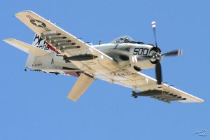 Skyraider Dive by Atmosphotography