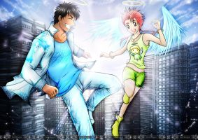 Commission: Shyamal and Mui - Angel version by Bob-Raigen