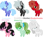Free adoptables [Gem based] by Wollica