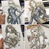 SDCC sketches by Artgerm