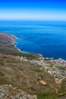 View of Camps Bay from Lions Head Mountain by DWaschnigPhotography