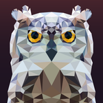 Low Poly - Owl by Krukmeister