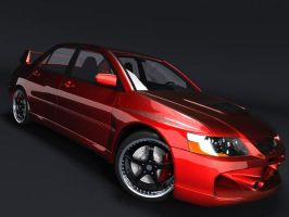 EVO9 Render Test in MentalRay by rutherCordova