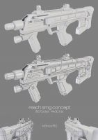 Halo Reach SMG concept by ImBrokeRU