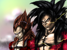 Super Saiyan 4 Goku and Vegeta by Ddog04