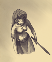 Warrior girl speedpaint by cleverdisguise