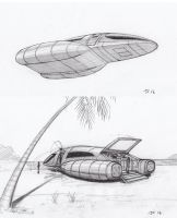 Space Runabout concept sketches page 2 of 2 by JamesF63