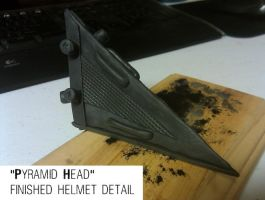 Pyramid Head helmet detail by Kanyon85