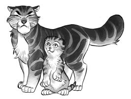 Cats of the Hawk: Pippin and Rickert by Lipatov