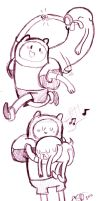 Finn and Jake Sketches by Celebi9