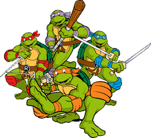 Classic TMNT by Real-Warner