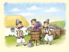 wine making postcard by sfepan