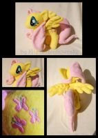 My Little Pony Fluttershy Plush by Rainbow-Kite