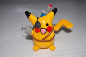pikachu the pirate figure by knil-maloon