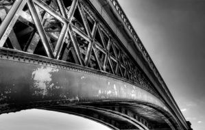 Railway Bridge BW by thegreatmisto