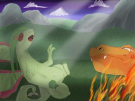Charizard vs Flygon by Leoni-Fang02