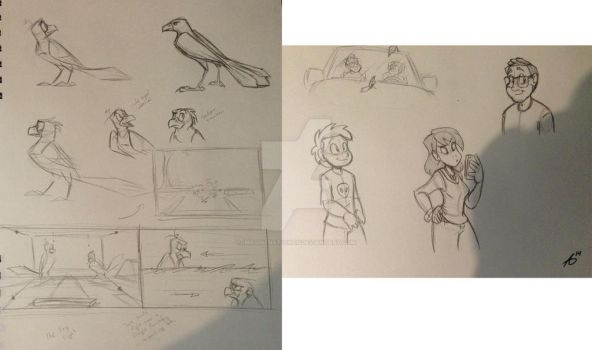 Sketches of Birds and People by ImagineNationAG