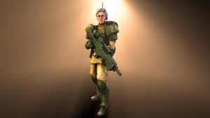 Imperial Guard Leftenant Mira by DrZestarooni