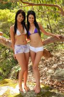 Justine and Tara - weasels 1 by wildplaces