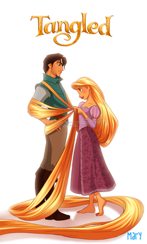 tangled - Flynn and Rapunzel by Katikut