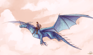 Eragon and Saphira by Ticcy