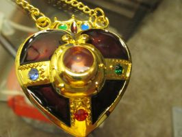 Sailor Moon- Cosmic heart brooch necklace by AndrewTsukino98