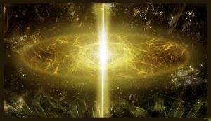 Golden Quasar by AzureParagon