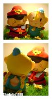 Bison and Cammy plushies XD by Shadaloo1989