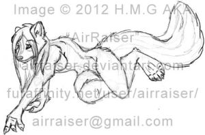 Pin Up: Skunk Leaning Sketchs 2012 by AirRaiser