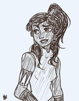 Korra sketch by bealor