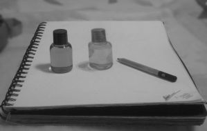 simple small bottle drawing 2/3 by jayiria