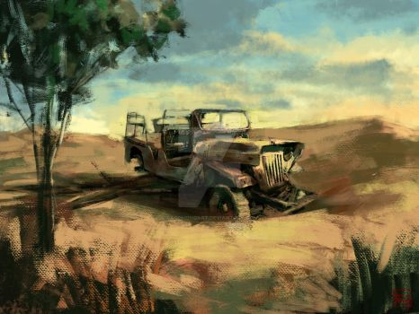 Fast digital landscape painting by caophongart
