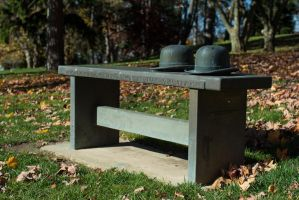 Wright`s Bench at Woodland Cemetary by PLutonius