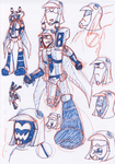 TFA - Blitzwing sketches by Rosey-Raven