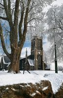 Snow at Lisburn Church II by Gerard1972