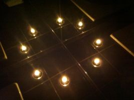 Candles and 3 mirrors by Topas2012