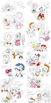 Sonic Rainboom Doodles by thegreatrouge