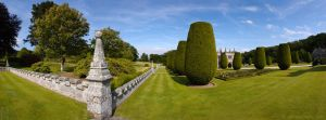 Lanhydrock Gardens Panorama by runique