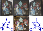 Custom MLP Shadow Box - Gutiuserenade and Rarity by Magpie-pony