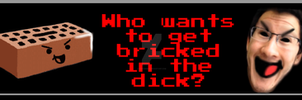 Who wants to get bricked in the dick button by SteffieNeko