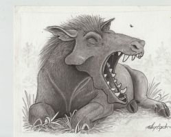 Big Yawn (Archaeotherium mortoni) by painted-wolfs-den