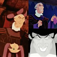 Frollo's smiles by Claudette900