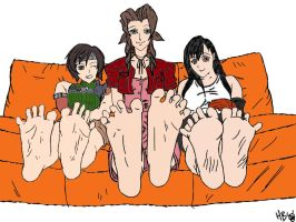 FF7 Girls Sole Show Colored by Got-You-Colored